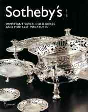 SOTHEBY'S IMPORTANT SILVER, GOLD BOXES AND PORTRAIT MINIATURES