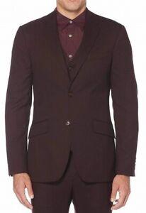 Perry Ellis Men Suit Jacket Port Red Sz 40 Slim-Fit Performance Stretch $185 125