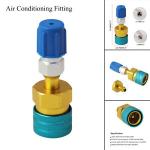 R1234YF to R134a Air Conditioning Adapter Fittings Quick Coupler Connector Low