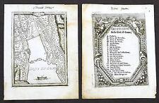 Militaria fortificazioni - Pianta della città di Como - G.B. Sesti - 1718 - RARA