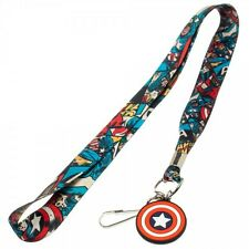 Captain America Avengers Licensed Lanyard Neck Strap Necklace ID Holder Keychain