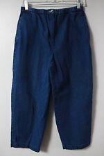 Talbots Womens Jeans Sz 10 P Capris Crop Petites Elastic Waist Cotton Casual
