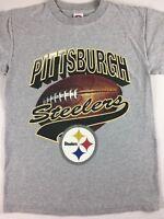 Pittsburgh Steelers T-Shirt Adult SZ S/M Big Football Design NFL Pennsylvania