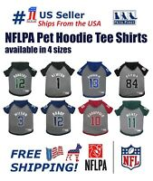NFLPA Hoodie T-Shirts PET GEAR for DOGS & CATS - Licensed, available in 4 sizes.