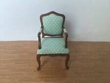 1/12 Dollhouse Furniture Single Armchair Made of Cloth& Wood JL0051