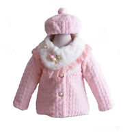 Cinda Girls Pink Long Sleeves Coat with Hat in 2 3 4 5 6 Years