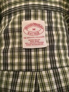 Brooks, Brothers, sz med (green, white, checked, Reg. Fit, dress/casual shirt