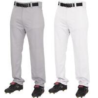 Rawlings Youth Semi Relaxed Baseball Pants White/Grey YBP31SR Little League Boys