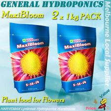 2 x 1kg General Hydroponics Maxibloom Powder GH Maxi Bloom Flower Nutrient Pack
