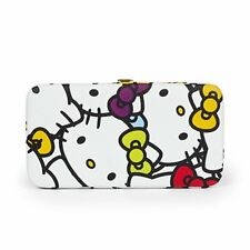 Hello Kitty Faux Leather Flat Hinge Wallet Purse : Muti Color Faces New