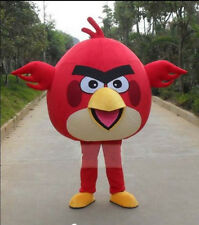 New Red Angry Bird Mascot Costume 1 Pcs Bird Fancy Dress Adult Free Shipping