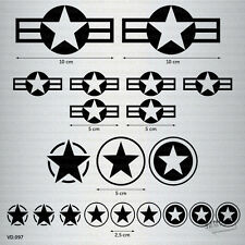 KIT VINILO ADHESIVO ESTRELLAS STARS AIR FORCE PEGATINA STICKER DECAL AUFKLEBER