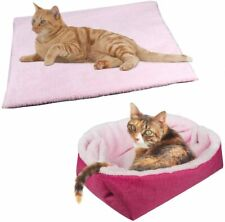 Furry Cat Bed/Mat (Convertible) Self-Warming Cat Mat Light Weight Fur Pet Bed fo