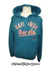 San Jose Sharks Women XS, S, M, 3XL Throwback Logo Hooded Sweatshirt NHL