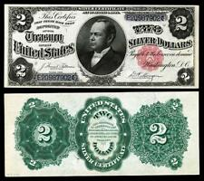 NICE CRISP UNCIRCULATED 1891 $2.00 SILVER CERTIFICATE COPY NOTE  !