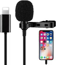 360° Lavalier Lapel Mini Stereo Clip On Condenser  Microphone For IPhone 12,11,X
