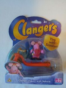 Clangers Tiny Clanger Figure with Scooter Vehicle