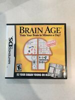 Brain Age: Train Your Brain in Minutes a Day (Nintendo DS) - Complete In Box