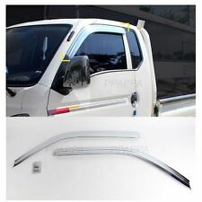 Chrome Side Window Visor Vent Guards Rain for Hyundai H100