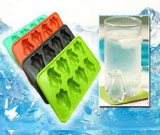 Penguin Tray Ice 8-Cubes DIY Freeze Mould Pudding Jelly Mold Silicone Bar Party