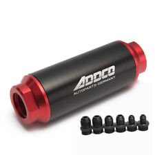 Universal Car Racing In-Line Fuel Oil Filter With AN10 AN8 AN6 Fittings Adapter