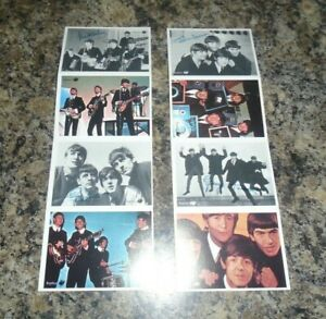 THE BEATLES SIGNED BUBBLE GUM CARDS SET OF 8