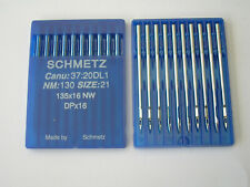 10 SCHMETZ INDUSTRIAL LEATHER POINT SEWING MACHINE NEEDLES 135X16 NW 135X17 #21