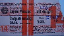 TICKET BL 1977/78 FC Bayern München - VfB Stuttgart