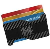 Carbon Fiber Money Clip Wallets for Men, RFID Slim Minimalist Metal Wallet...