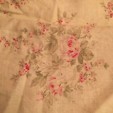 Rachel Ashwell Shabby Chic Rose Blossom Butter Pink Fabric Sample Rose Floral Yd