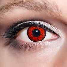 Rote Kontaktlinsen farbige Dämonenaugen Jahreslinsen Motivlinsen Rot Fun;K522
