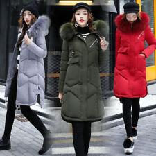 2018 Women winter coat Down jacket Ladies fur hooded jackets Long puffer parka