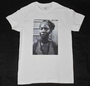 Nina Simone White T-Shirt S-3XL vintage retro jazz blues r&b civil rights sade
