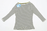 F&F Womens Size 12 Striped Cotton Blend White Top (Regular)