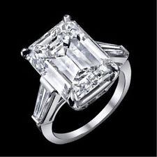 Anillos de joyería con diamantes de compromiso, esmeralda VS1