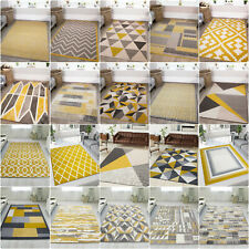 Mustard Living Room Rugs | Cheap Yellow Rug | Hallway Carpet Runner | Large Rugs