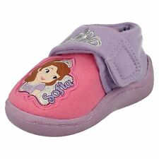 'Infant Girls Disney' Rounded Toe Character Slippers - Sofia the First Crown