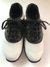 Foot Joy Boys Golf Shoes 3 M Brown White Saddle #45020