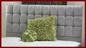 """New Brand Fantastic Earl Chenille Fabric Buttoned Bed Headboard with 26"""" Tall"""