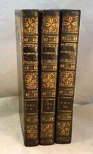 ANASTASIUS or Memoirs of A Greek 1820 Greece Ottoman Empire Fine Bindings 3 Vol.