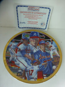 1994 Tom Glavin Sports Impression plate 8.5 inch Atlanta Braves Baseball #1745