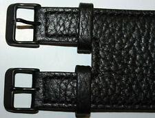 KHS Tactical Watch Lederarmband Kraftband schwarz Leder robust 22mm KHS.EBLK1.22