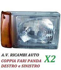 COPPIA FARO FANALE PROIETTORE ANTERIORE DX-SX FIAT PANDA DA 1986 -2003 F/ARANCIO