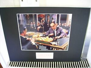 PETER MADDEN JAMES BOND FROM RUSSIA WITH LOVE AUTOGRAPH DISPLAY UACC V. SCARCE
