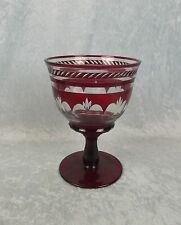 Vase Ruby Date-Lined Glass