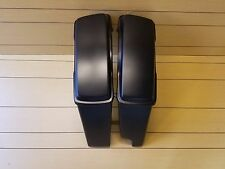 4¨ STRETCHED SADDLEBAGS 2 INTO 1  EXHAUST & LIDS FOR HARLEY DAVIDSON 89-2013