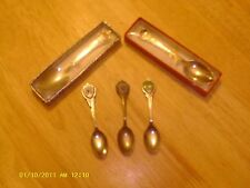 Lot of 5 Collector Sovenier Spoons. Wi, Ia, Mn,Bicentennial, Atlantic City.