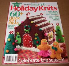 Holiday Knits Knit Simple Knitting Christmas Magazine Gingerbread House Men etc