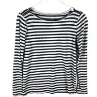 J.Crew Women's T-Shirt Size M Multicolor Striped Long Sleeve Boatneck Artist Tee