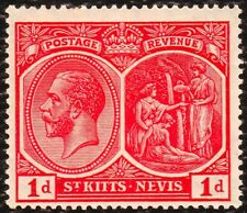 St. kitts - nevis 1920 - 22 Mint Hinged Red 1d SG 25
